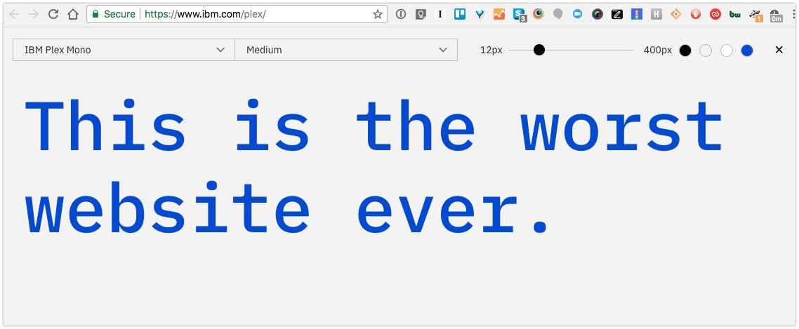 Behold: The worst font announcement website ever : webdev